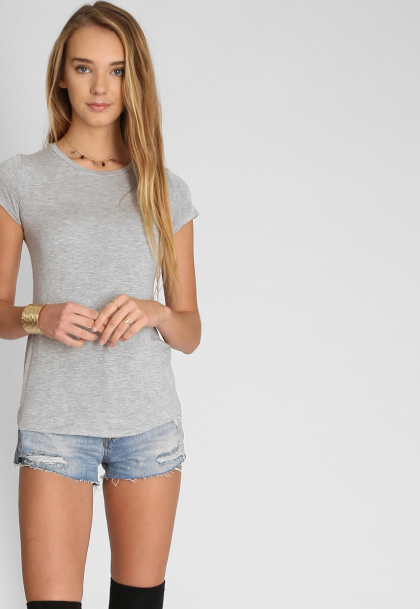 COSTA MESA HEATHERED TOP - T-shirts - Wetseal