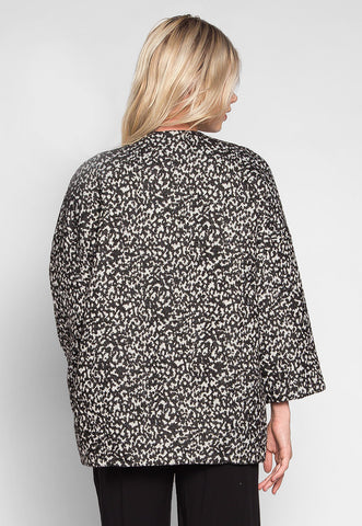 Snowflakes Oversized Open Front Coat