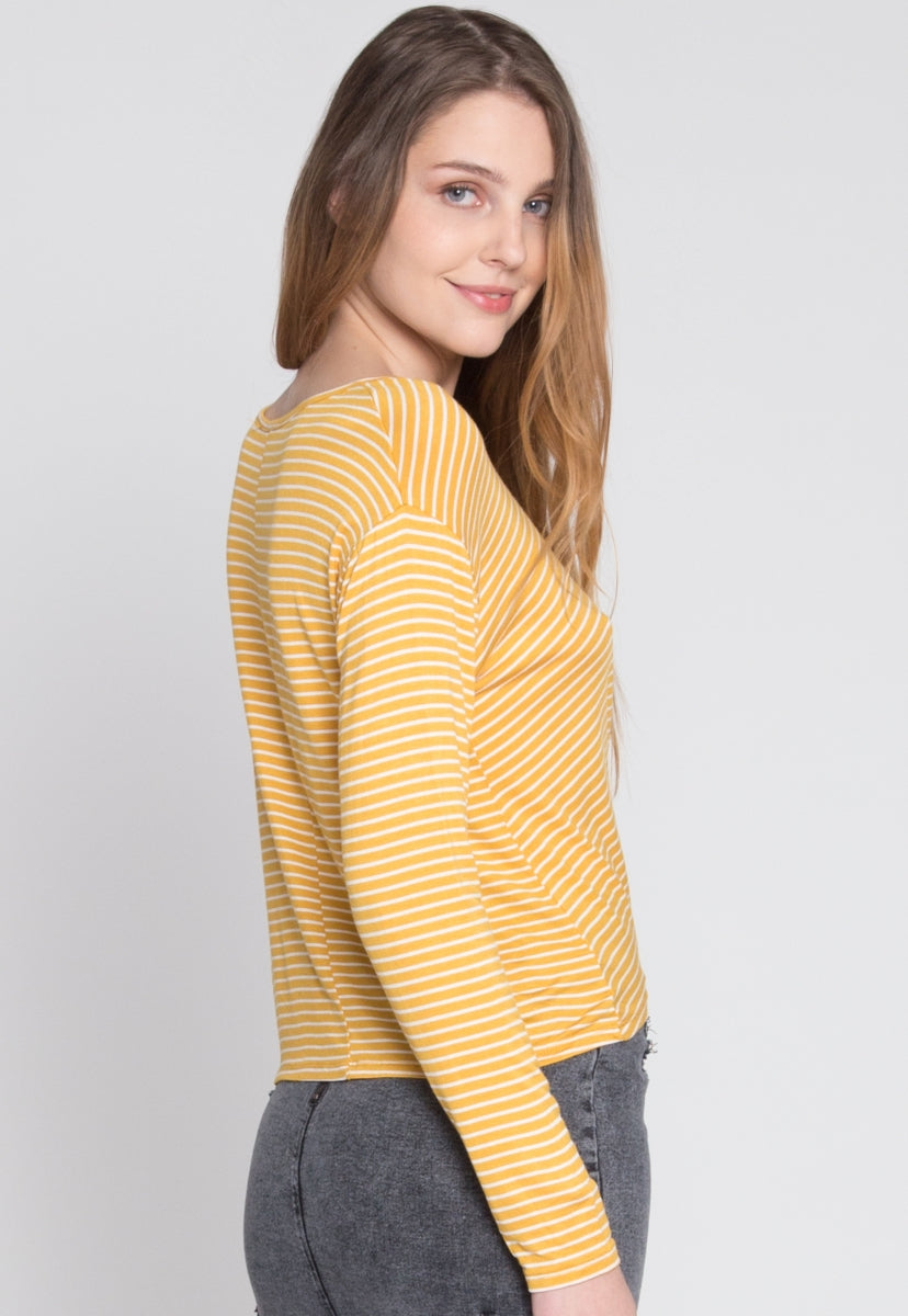 Last Chance Stripe Knit Top - Shirts & Blouses - Wetseal