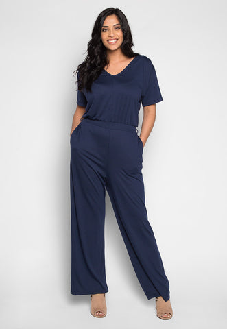 Plus Size Only You V Neck Jumpsuit
