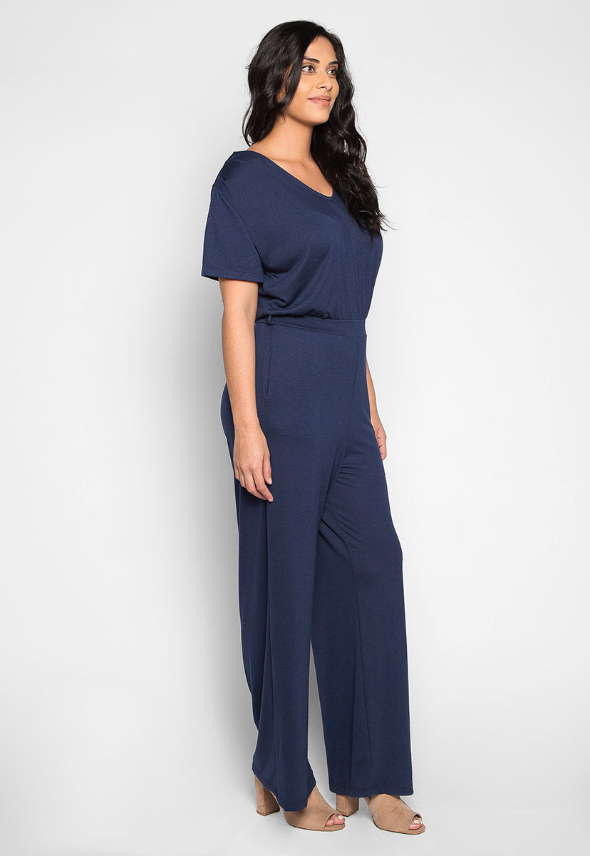 Plus Size Only You V Neck Jumpsuit - Plus Rompers & Jumpsuits - Wetseal