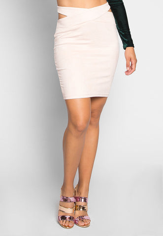 Africa Mini Skirt in Blush