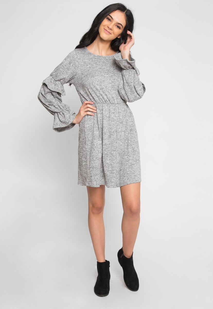Showstopper Flounce Fit and Flare Dress - Dresses - Wetseal
