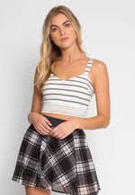 Atlantis Stripe Crop Top in White