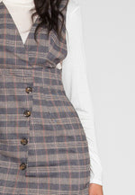 Morningside Plaid Pinafore Dress