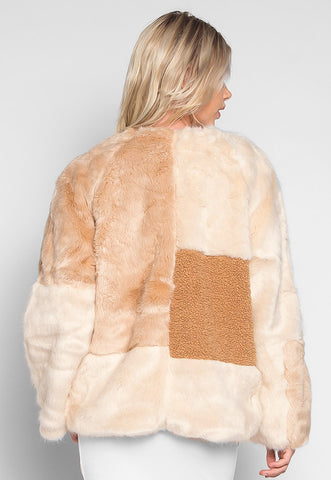 Minnesota Faux Sherpa Panel Coat