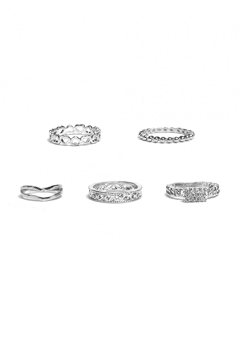 Illinois Stacked Rings Set - Jewelry - Wetseal