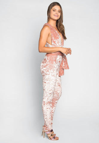 Front Row Multiposition Jumpsuit in Pink