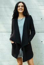 Thrills Textured Cardigan in Black