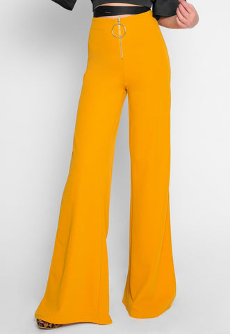 Race Car O-Ring Pants in Mustard