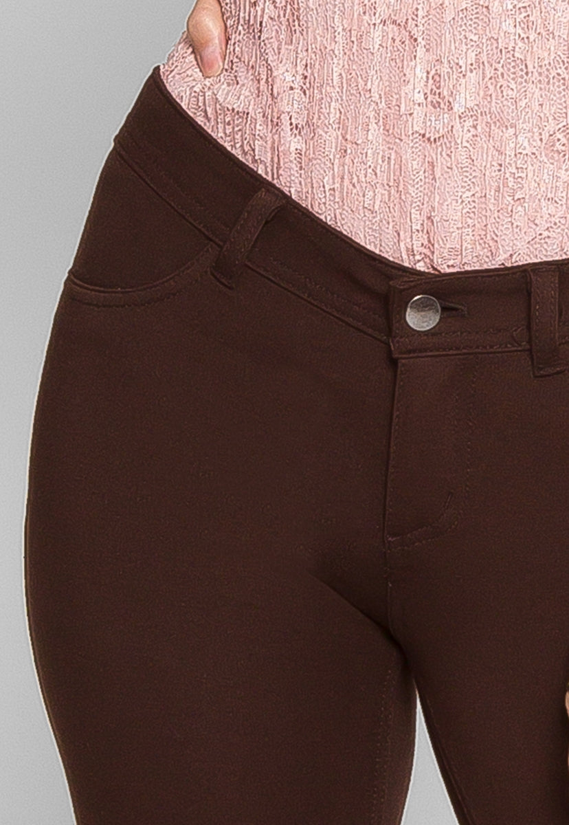 Stunning Slim Fit Pants in Brown - Pants - Wetseal