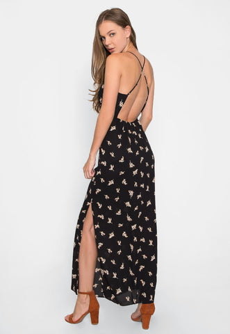 Madison Cowl Neck Floral Maxi Dress
