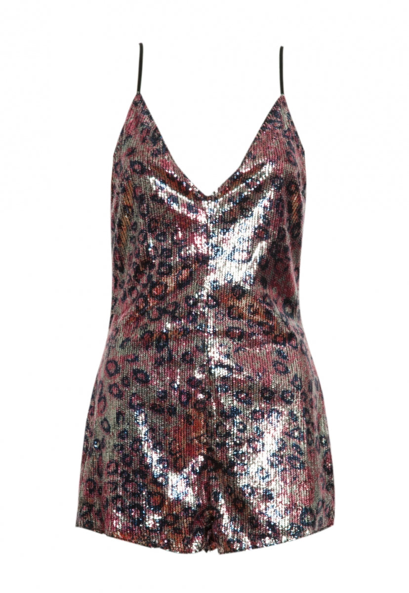 Break Free Leopard Sequin Romper - Rompers & Jumpsuits - Wetseal