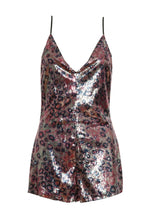 Break Free Leopard Sequin Romper