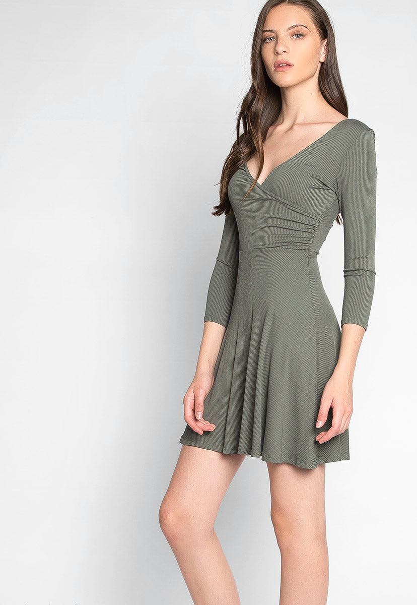 Less Than Complicated Wrap Mini Dress - Dresses - Wetseal