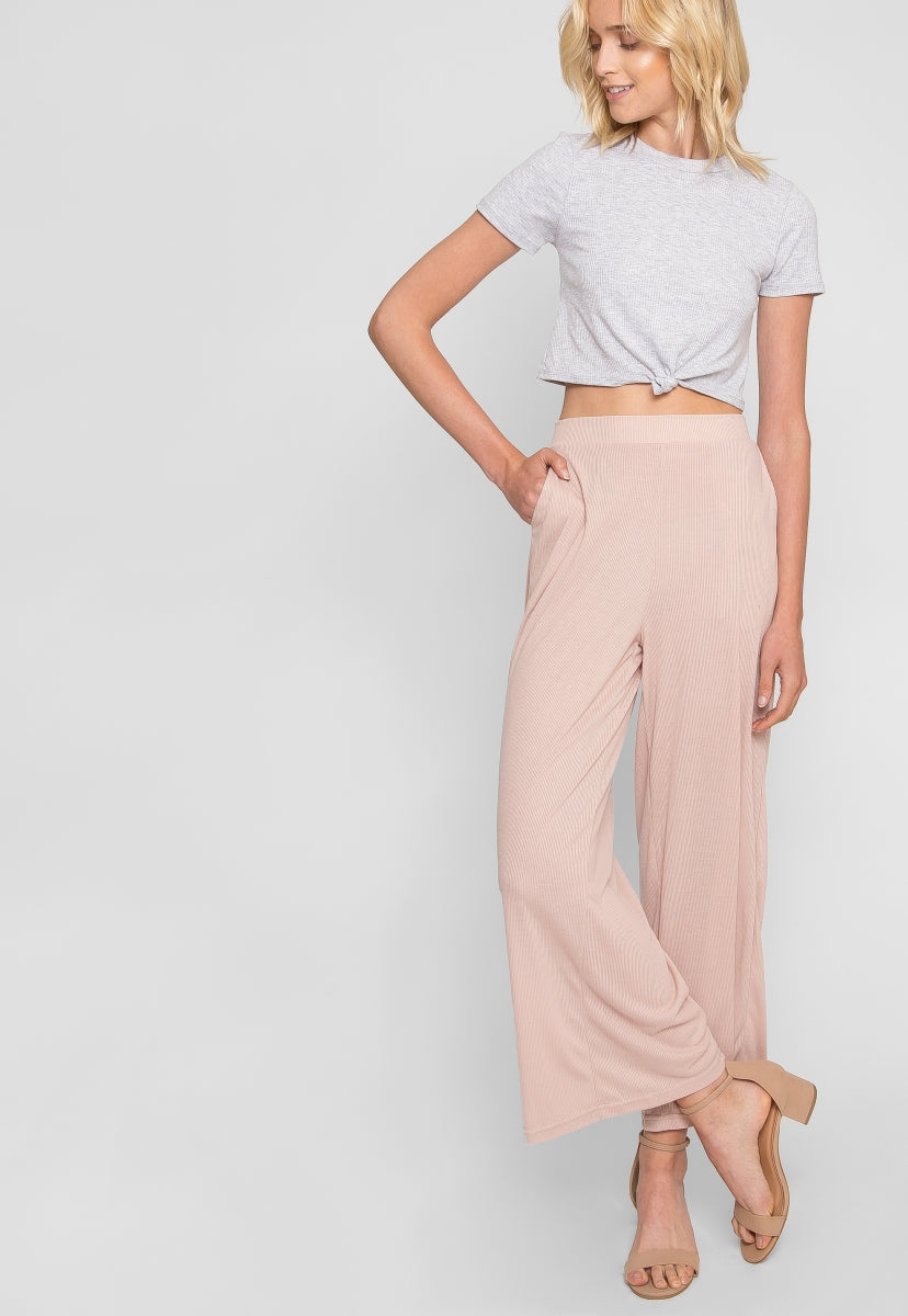Pavements Palazzo Pants in Light Pink - Pants - Wetseal
