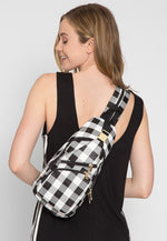 Picnic Gingham Convertible Sling Backpack