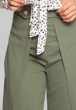 Buckle Tulip Pants in Olive