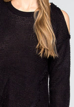 Girls Like You Pullover Sweater in Black