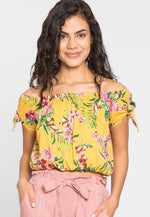 Redstone Tropic Off Shoulder Blouse in Yellow