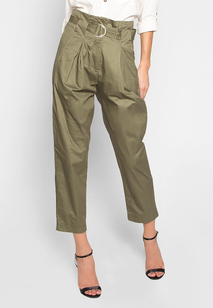 Coffee & Friends Pegged Pants in Olive - Pants - Wetseal