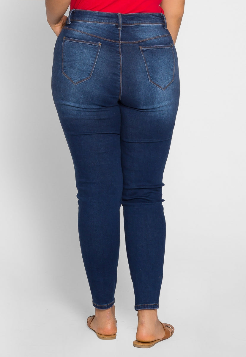 Plus Size Whisking Skinny Jeans - Plus Bottoms - Wetseal