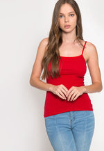 California Basic Cami Top in Red
