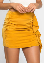 Solstice Ruched Mini Skirt