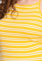 Plus Size Hermosa Halter Stripe Top in Yellow