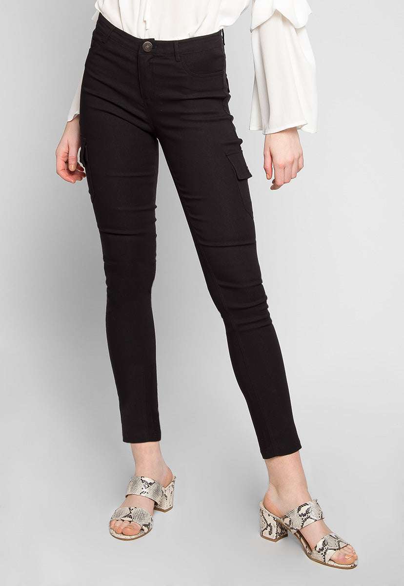 Get Away Cargo Pants in Black - Pants - Wetseal