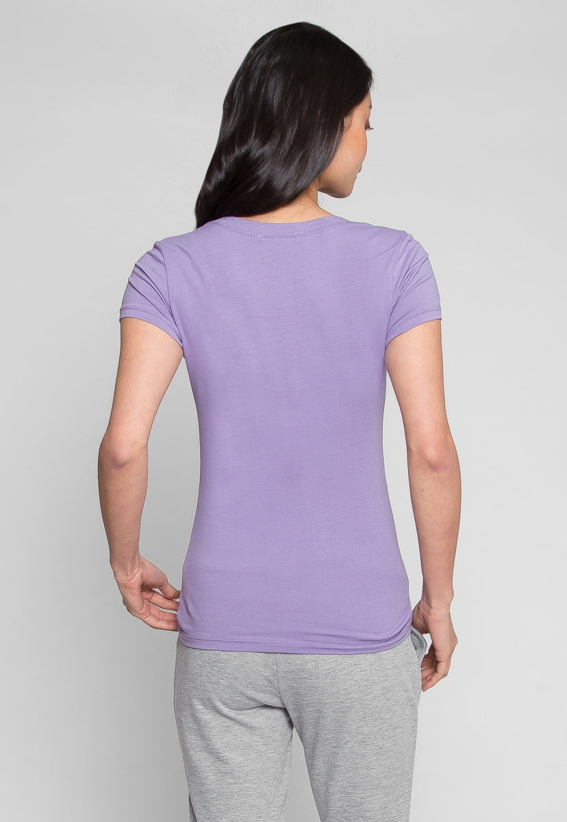 Back To Basics Scoop Neck T-shirt in Lavender - T-shirts - Wetseal
