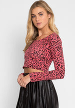 London Leopard Print Crop Top