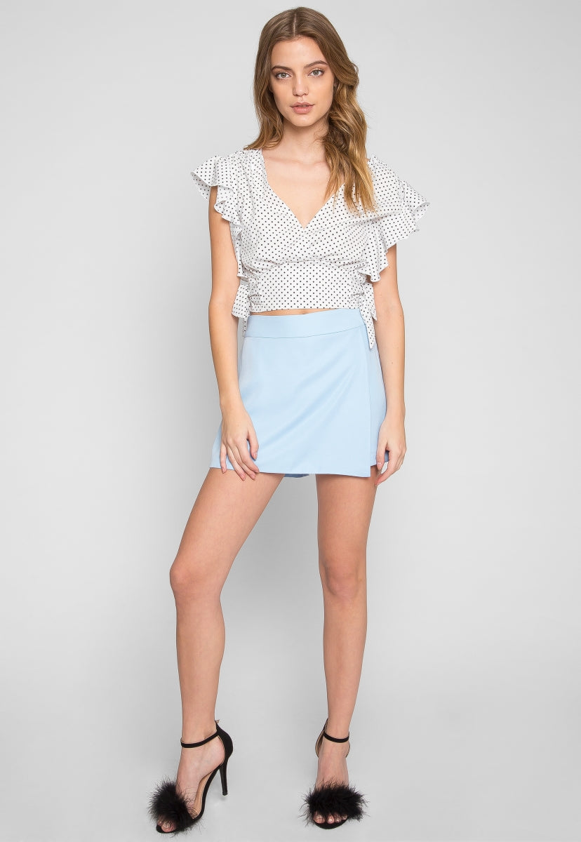 Boardwalk Polka Dot Blouse - Shirts & Blouses - Wetseal