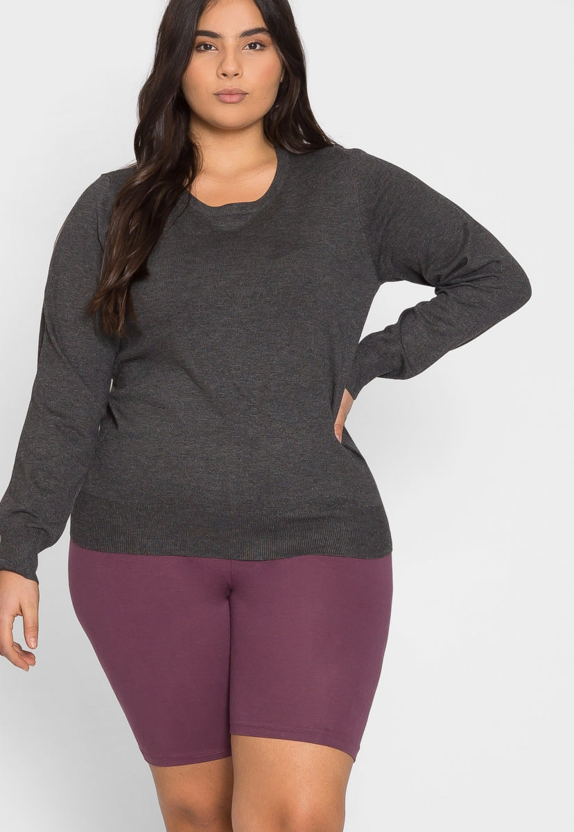 Plus Size Must Have Sweater in Charcoal - Plus Outerwear - Wetseal