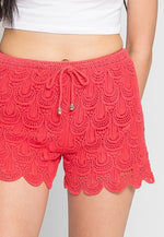 Cherry Crochet Shorts