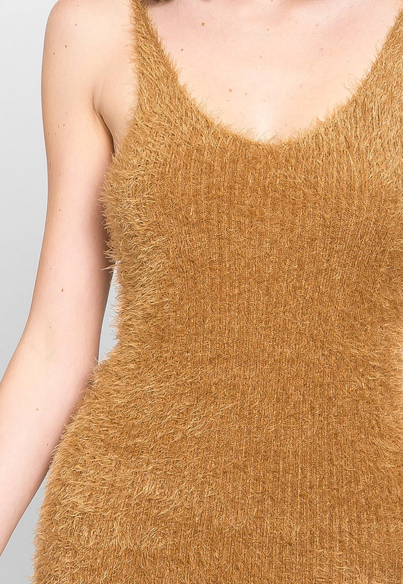 Blaze Fuzzy Bodycon Dress in Mocha - Dresses - Wetseal