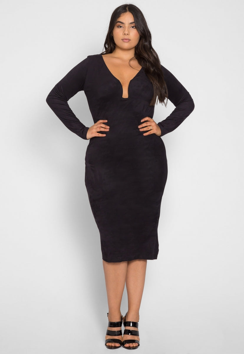 Plus Size After Party Bodycon Dress - Plus Dresses - Wetseal