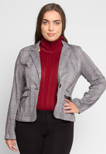 Plus Size Autumn Wood Glen Plaid Blazer