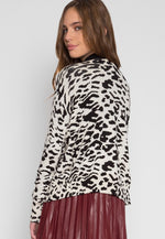 Wild Side Cardigan in White Leopard