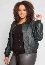 Plus Size Moss Lake Leather Jacket