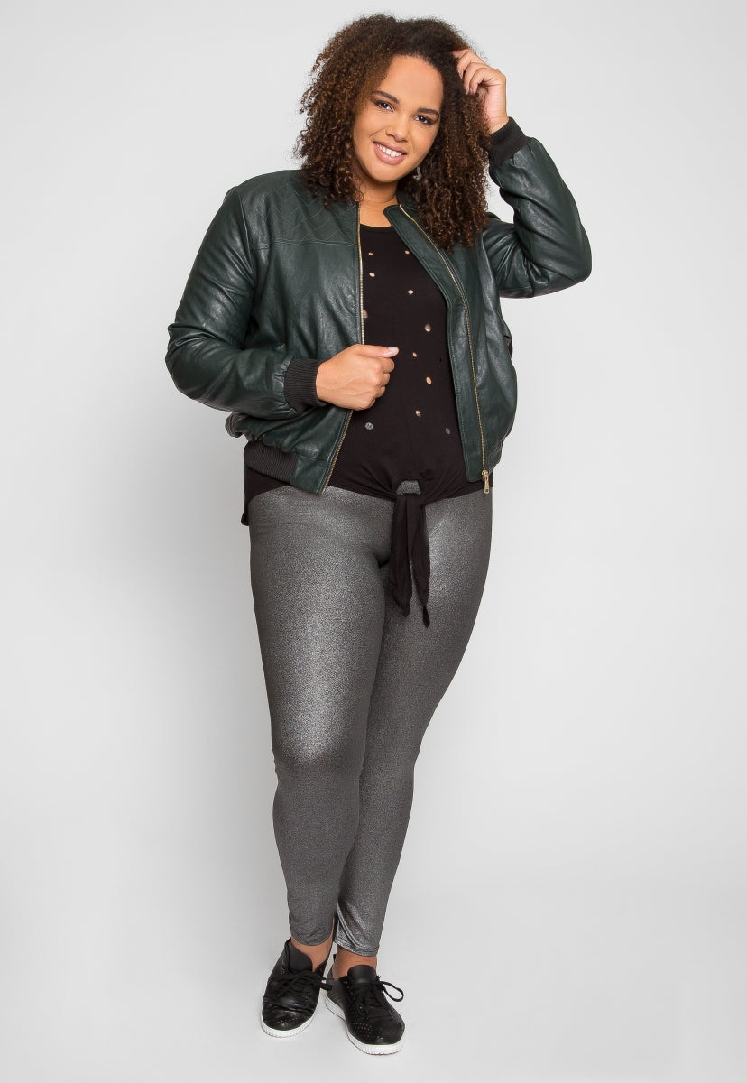 Plus Size Moss Lake Leather Jacket - Plus Outerwear - Wetseal