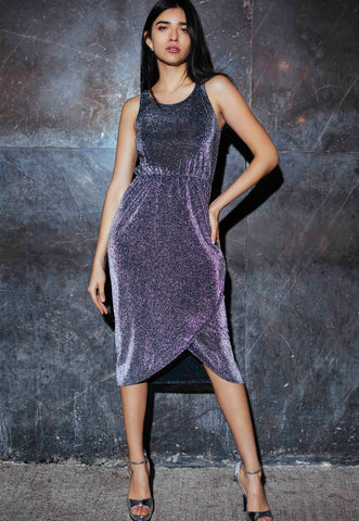 Starry Skies Metallic Dress