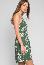 Evergreen Floral Dress