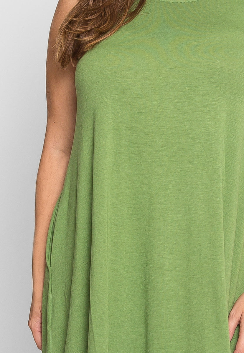 Plus Size Tunic Dress in Green - Plus Dresses - Wetseal