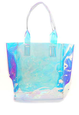 MacArthur Iridescent Clear Metallic Tote