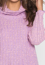 Rose Mist Cowl Neck Sweater