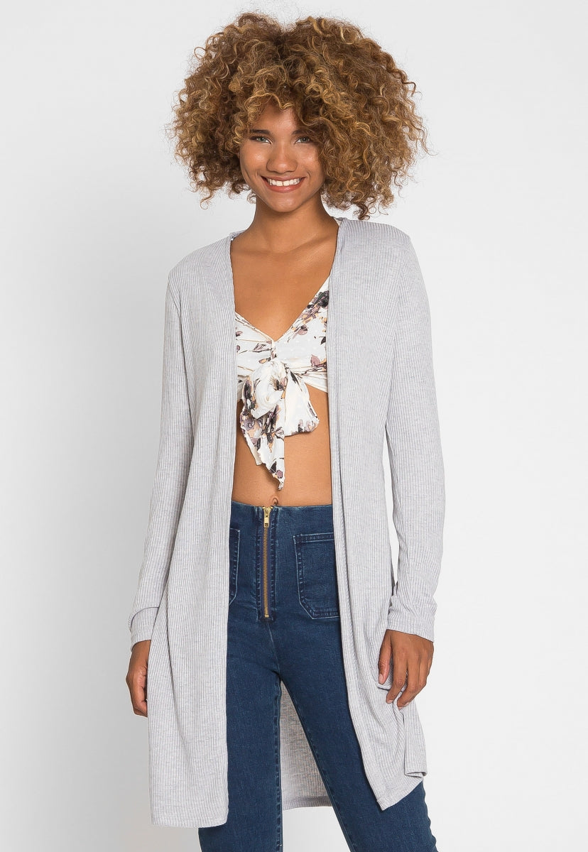 Compass Baby Knit Cardigan in Gray - Sweaters & Sweatshirts - Wetseal