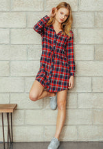 Cabin Days Plaid Flannel Dress