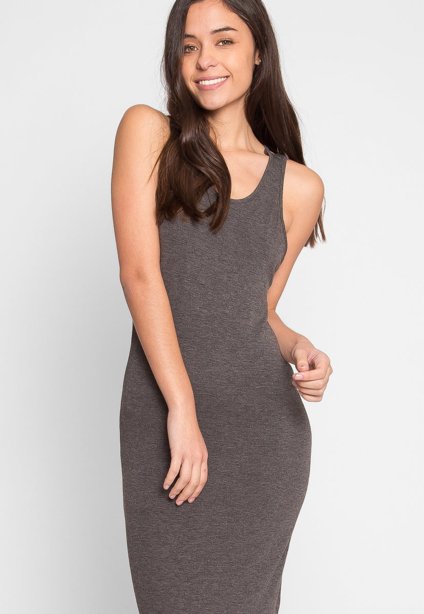 Attention Tank Dress in Charcoal - Dresses - Wetseal