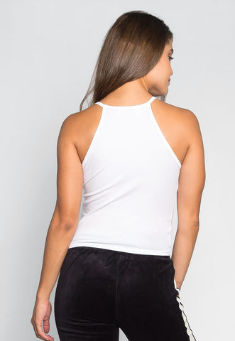 Lina Basic Tank Top in White